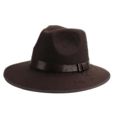 Fashion Unisex Vintage Soft Blower Jazz Wool Felt Hats Fedora Trilby Derby Cap