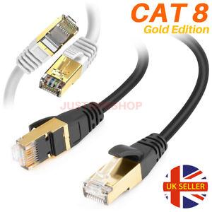 CAT8-RJ45-Rete-Ethernet-Gigabit-40-Gbps-Super-Ultra-Speed-Patch-cavo-LAN-UK