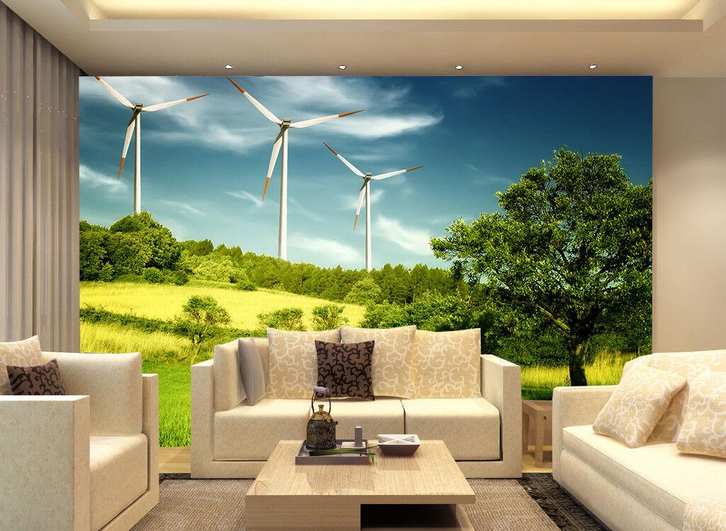 3D Natur Bäume Windmühle  83 Tapete Wandgemälde Tapete Tapeten Bild Familie DE   Charmantes Design    Die Qualität Und Die Verbraucher Zunächst    Hat einen langen Ruf