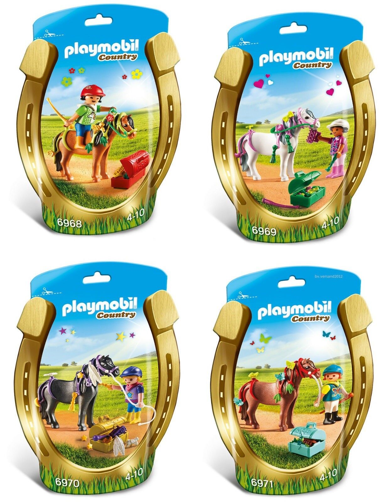 Playmobil Horse Pony COUNTRY 6968 6969 6970 6971 (Sealed New) Only Set on Ebay