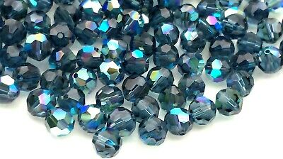 Jet AB 6mm Swarovski Round Beads #5000 12 PCS
