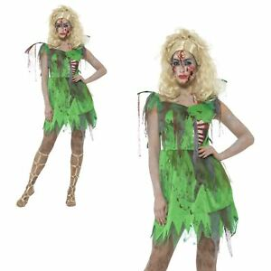 e069cabce3e Details about Adult Ladies Sexy Zombie Woodland Fairy Halloween Cosplay  Costume Fantasy SFX