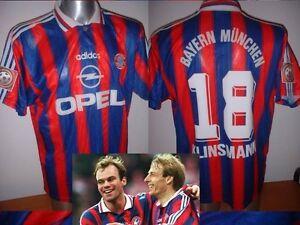 Image is loading Bayern-Munich-Shirt-18-KLINSMANN-Jersey-Trikot-Adidas- 7717576adfebc