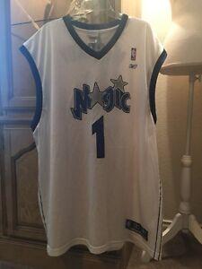 NBA Orlando Magic #1 McGrady Size 3XLarge Reebok Jersey Men's