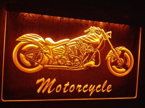 Motorrad Fahrrad garage dekor illuminated Leuchtreklame Neonzeichen Leuchtschild