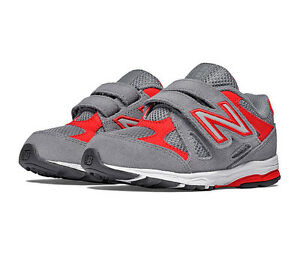 New-Balance-Kids-Infant-Running-Shoes-KV888GRI-Grey-Red-Free-Shipping-NIB