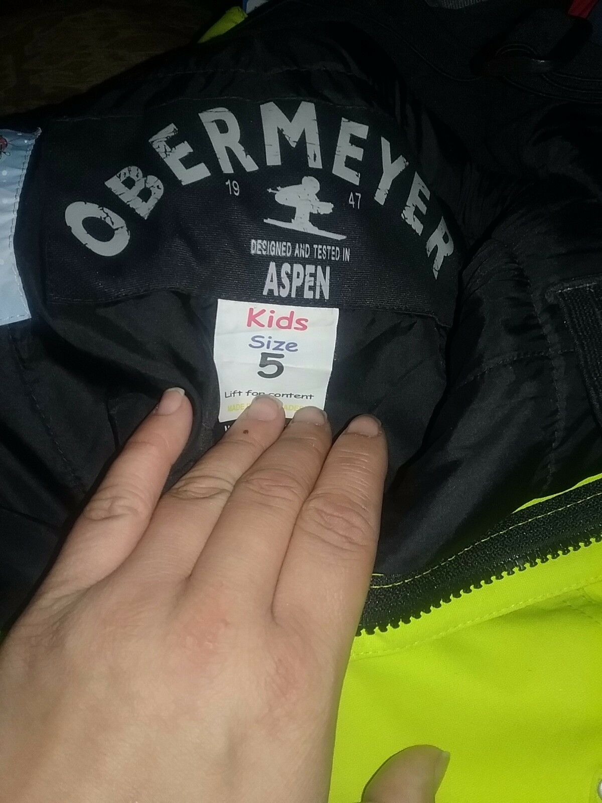 Obermeyer ski pants neon  green size 5  cost-effective