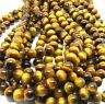 "Natural Tiger's Eye Gemstone Round Beads 15.5"" 4MM 6MM 8MM 10MM 12MM 14MM 16MM"