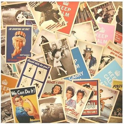 Lot of 32p Vintage Post card Postcard Postcards World Keep Calm And Carry On
