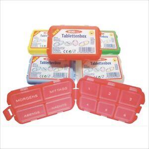 Pillendose Tablettenbox Tablettendose Medikamentendose Farbauswahl bunt farbig