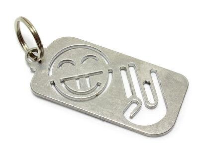 SHOCKER HAND SMILE Schlüsselanhänger Edelstahl Japan japanese domo wakaba drift