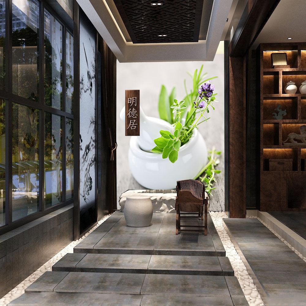 3D Grüne Pflanze Blaumentöpfe 8 Tapete Wandgemälde Tapete Tapeten Bild Familie DE | Merkwürdige Form  | Charmantes Design  | Professionelles Design