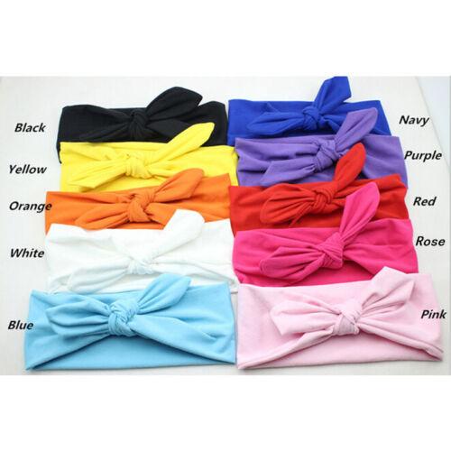 Women Girl/'s Sweet Cute Wide Ribbon Headband Big Bow Tie Rabbit Ears Hairband