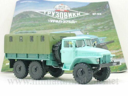 1:43 URAL 375D Pritsche DeAgostini #43 Russische LKW Russian truck UdSSR DDR OVP