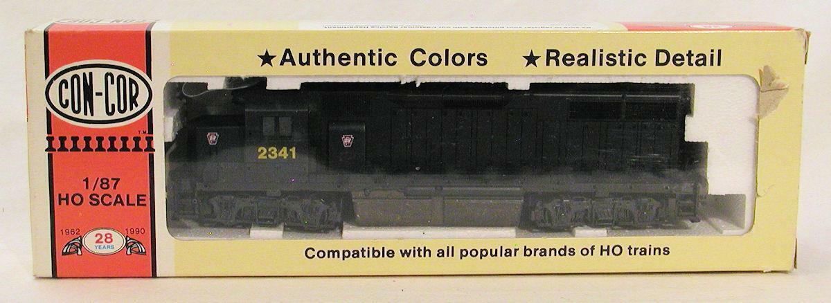 HO Scale Con-Cor Pennsylvania EMD GP-38 Locomotive - 0015-002013