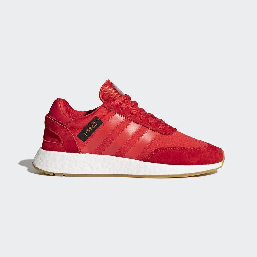 Uomo Adidas Iniki Runner I-5923 Core Rosso bianca Gum Brown B42225