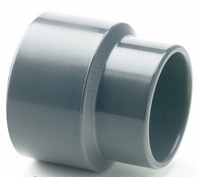 "PVC Reducing Socket Plain Pipe Fitting 25mm x 20mm 3/4"" Koi Pond Plumbing #4T15"