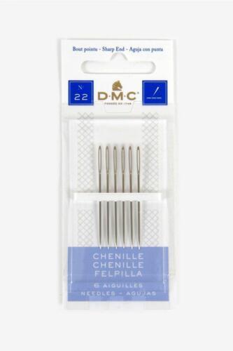 DMC Aiguilles-Chenille-tailles 18 To 22-6 AIGUILLES