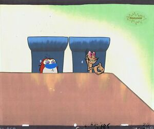 REN-amp-STIMPY-ORIGINAL-1990-S-PRODUCTION-CEL-ANIMATION-ART-NICKELODEON-DOGS-LIFE
