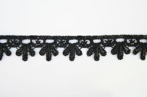 "5//8/"" to 5-1//8/"" Wide 23 Color Floral Embroidery Venice Lace Guipure Trim by Yard"