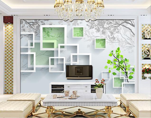 3D Weiß Grid 469 Wallpaper Murals Wall Print Wallpaper Mural AJ WALL AU Lemon