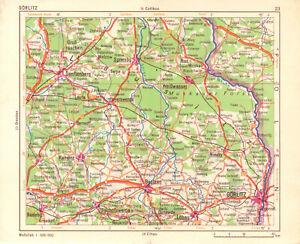 Kleine-Landkarte-der-Lausitz-Senftenberg-Weisswasser-Goerlitz-Bautzen-1964
