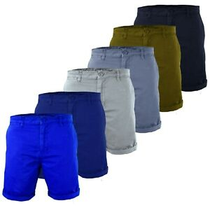 New-Mens-Summer-Washed-Chino-Shorts-Casual-Twill-Cotton-Cargo-Pant-Work-Holiday
