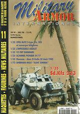 MILMITARY ARMOR N°11 OPEL BLITZ / V3 FRIT DANMARK / SCAMMEL PIONEER / SHERMAN