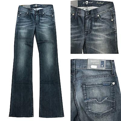 Brillante 7 For All Mankind Jeans Donna Pantaloni Bootcut Hüftjeans Tg. W25, W28 Nuovo-mostra Il Titolo Originale E La Digestione Aiuta