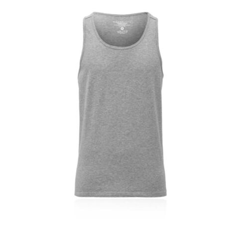Higher State Mens Training Fitness Singlet Grey Sports Running Breathable