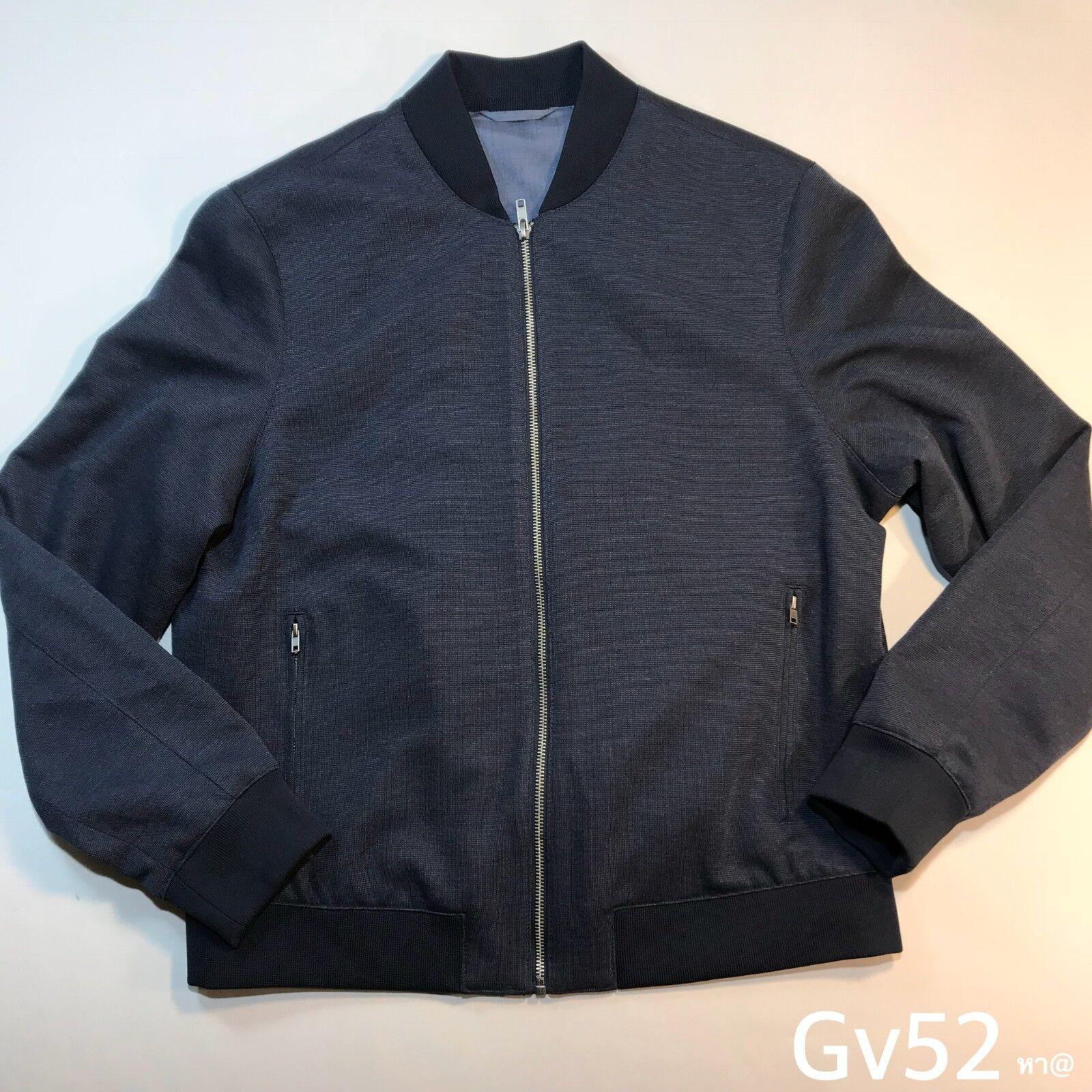 Mens ACW Harrington Bomber Slim Fit Athletic Casual Wear Size L P-P 24  L 24