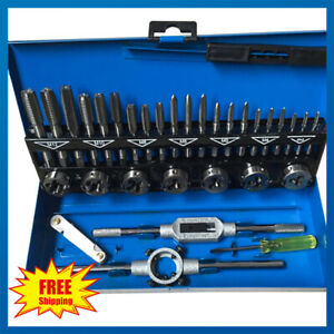 32Pcs-Pro-Metric-Tap-Wrench-And-Die-Engineers-Set-Cuts-M3-M12-Bolts-Case-Kit