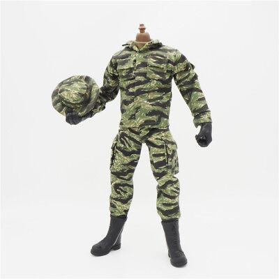 1//6 Scale Uniforms Coveralls 3 Pocket Bag Camo Fit HT B005 Body