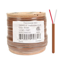 18 2 Thermostat Wire 18 Gauge Copper Cmr Heating Ac Hvac Cable 250ft