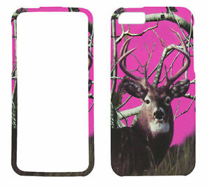 Pink-Deer-Camo-for-Apple-iPhone-5-5S-Rubberized-Feel-Case-Cover