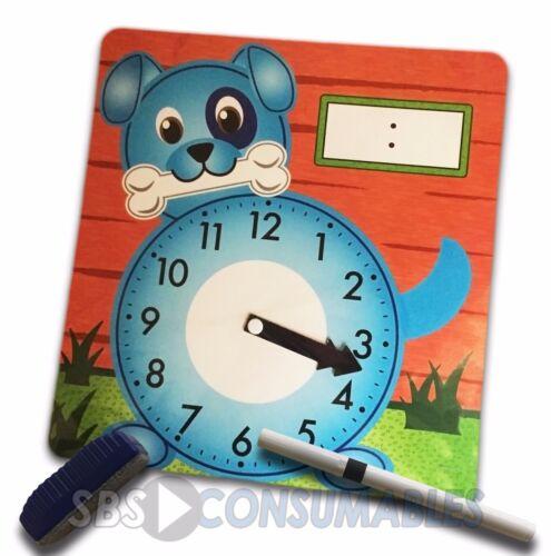 con Drywipe Marker Eraser /& Orologio di insegnamento Drywipe Set raccontare il tempo
