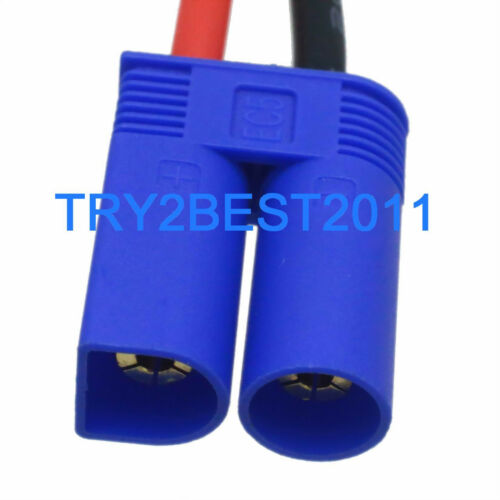Male EC5 to Female EC3 Lipo Battery Adapter 5cm 14awg Cable