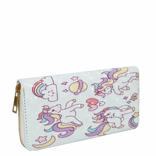 New Fashion Lady Women Clutch Wallet Long Card Holder Case Purse Unicorn 46-3