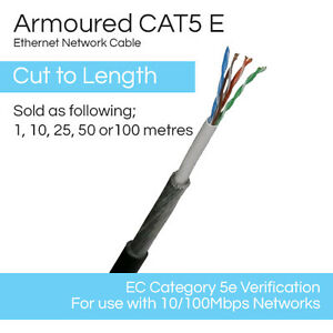 Swell Steel Wire Armoured Cable Cat 5E Ethernet Cable Armoured X1M 10M 25M Wiring Digital Resources Funapmognl
