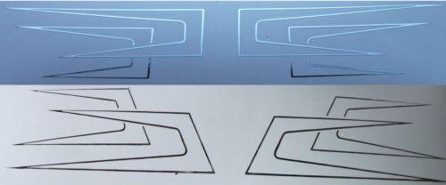 DachPfeile Outline Chrom Folien Aufkleber für SCANIA Modell Hochdach in 1:14,5