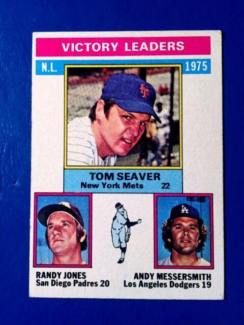 1976 TOPPS '75 NL VICTORY LDRS SEAVER/JONES/MESSERSMITH  NM/MT #199