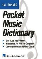 The Hal Leonard Pocket Music Dictionary Book 183006