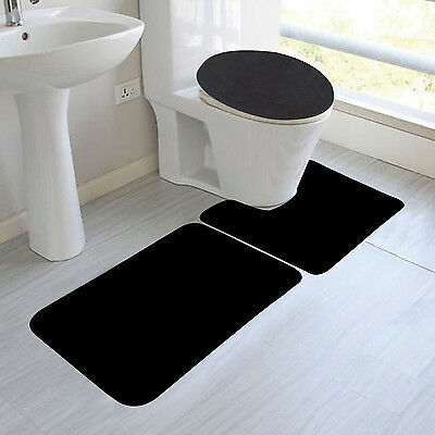 3PC SAGE GREEN EMBROIDERY BANDED BATHROOM SET BATH MAT COUNTOUR LID COVER #5