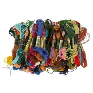 100-echevettes-de-Fil-pour-broderie-point-de-croix-tricotage-crochet-multic-E7L4