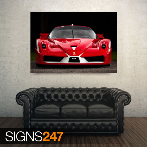 AA742 FERRARI FXX RED Photo Picture Poster Print Art A0 to A4 CAR POSTER