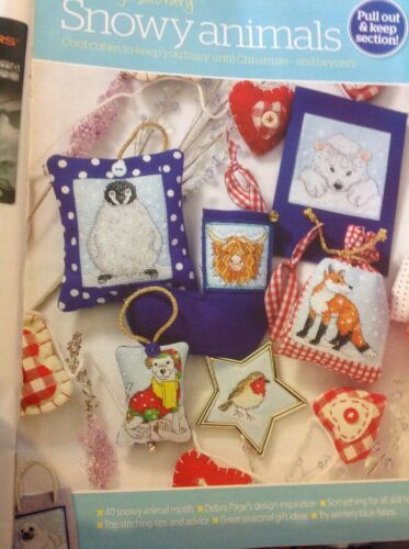 40 Snow Animals Designs For Cards And Gifts Christmas Cross Stitch Chart X