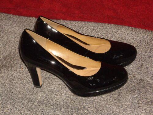 Sienna Tamaño Clarks 4 negro charol Zapatos Kendra de q47Ev