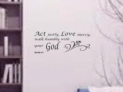 scripture Vinyl Art stickers Psalm 23:1 V1 Bible verse wall decals love