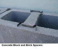 100 Masonry Mortar Joint Spacer's For Diy Block & Bricklaying