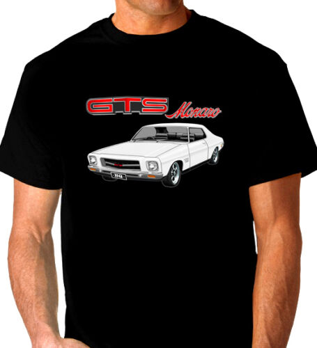 9 CAR COLOURS BIG FIT HOLDEN HQ COUPE  GTS  MONARO QUALITY BLACK TSHIRT